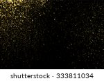 gold glitter texture on a black ... | Shutterstock .eps vector #333811034