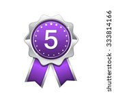 5 number violet vector icon... | Shutterstock .eps vector #333814166
