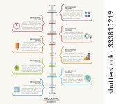 minimal infographics timeline...   Shutterstock .eps vector #333815219