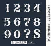 numbers set vector illustration | Shutterstock .eps vector #333816254