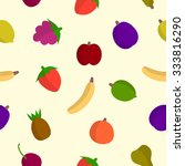 fruit pattern  plum  apple ... | Shutterstock .eps vector #333816290