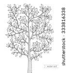 forest tree  bush  flowers... | Shutterstock .eps vector #333816338