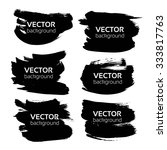 black long textured strokes... | Shutterstock .eps vector #333817763