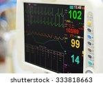 heart monitor measuring vital... | Shutterstock . vector #333818663