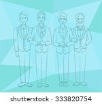 young gay couples in an office... | Shutterstock .eps vector #333820754