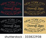 new york city graphic design ... | Shutterstock .eps vector #333822938