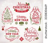 collection of christmas and new ... | Shutterstock .eps vector #333830669