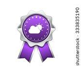 sunny cloud violet vector icon... | Shutterstock .eps vector #333835190