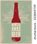 winter  xmas  beer. typographic ...   Shutterstock .eps vector #333845759