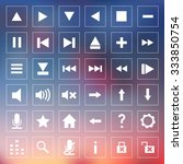 set of vector icons for media... | Shutterstock .eps vector #333850754