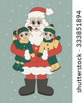 christmas illustration of santa ... | Shutterstock .eps vector #333851894