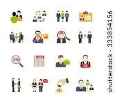 recruitment icons set with... | Shutterstock .eps vector #333854156