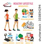healthy lifestyle infographic.... | Shutterstock .eps vector #333854294