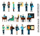 university people set with... | Shutterstock .eps vector #333855029