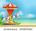 Realistic Carousel With Three...