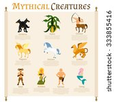 mythical creatures infographics ...   Shutterstock .eps vector #333855416