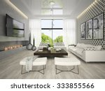 interior of living room with... | Shutterstock . vector #333855566