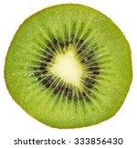 Slice Of Kiwi Isolated On Whit...