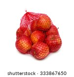 the heap of apples packaged in...   Shutterstock . vector #333867650
