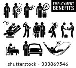 worker employment job benefits...   Shutterstock .eps vector #333869546