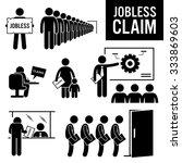 jobless claims unemployment... | Shutterstock .eps vector #333869603