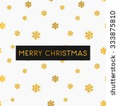 merry christmas greeting card... | Shutterstock .eps vector #333875810