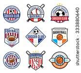 set of sport team logo... | Shutterstock .eps vector #333880640