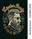 "design t shirt print ""hipster... | Shutterstock .eps vector #333881348"