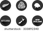 new zealand  flat icon set.... | Shutterstock .eps vector #333892340