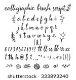 calligraphic vector font with... | Shutterstock .eps vector #333893240