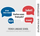 language poster  banner with... | Shutterstock .eps vector #333893468