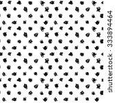 hand drawn polka dot texture.... | Shutterstock .eps vector #333894464