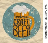 hand drawn craft beer label.... | Shutterstock .eps vector #333897596