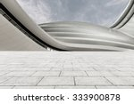 empty square floor with skyline ... | Shutterstock . vector #333900878