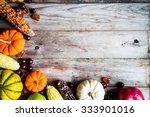 Pumpkins Corn Apples Nuts And...