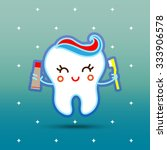 teeth dental care health flat... | Shutterstock .eps vector #333906578