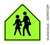 u.s. school zone sign | Shutterstock .eps vector #333907289