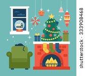 modern creative christmas...   Shutterstock .eps vector #333908468
