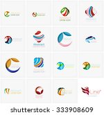 set of abstract wavy elements.... | Shutterstock .eps vector #333908609