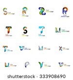 set of colorful abstract letter ... | Shutterstock .eps vector #333908690