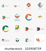 set of abstract wavy elements.... | Shutterstock .eps vector #333908759