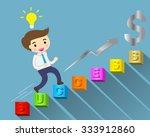 businessman climbing ladder to... | Shutterstock .eps vector #333912860
