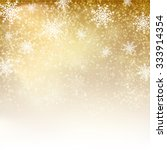 gold christmas background with  ... | Shutterstock .eps vector #333914354
