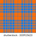 Orange And Blue Tartan Seamless ...