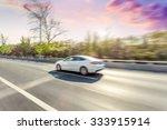 car driving on road in beijing  ... | Shutterstock . vector #333915914