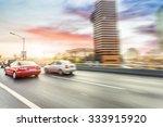 car driving on road in beijing  ... | Shutterstock . vector #333915920