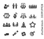 meeting icons vector | Shutterstock .eps vector #333919928