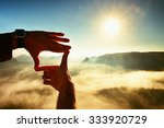 close up of hands making frame... | Shutterstock . vector #333920729