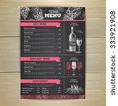 vintage wine menu design.... | Shutterstock .eps vector #333921908