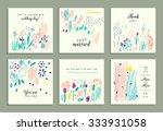 set of creative gentle cards.... | Shutterstock .eps vector #333931058